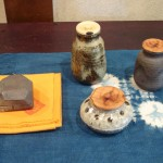 One Kogo and 3 Chaire (incense holder and tea caddies)