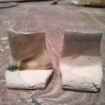 80 ash / 40 feldspar.  L tile using mixed wood ash, R tile using mystery ash