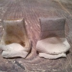 80 ash / 40 feldspar / 10 porcelain stone.  L tile using mixed wood ash, R tile using mystery ash